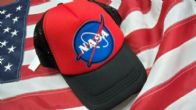 Jack and Gill - Abbigliamento Americano negozio - Store American Clothing . Cappellino NASA acronimo di National Aeronautics and Space Administration agenzia governativa civile responsabile del programma spaziale degli Stati Uniti d'America.  MADE IN USA